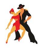 Tango de la danza de la señora y del caballero Foto de archivo libre de regalías