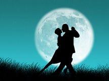 Tango in de maan Stock Foto's