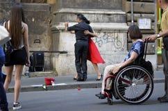 Tango de rue photo libre de droits