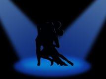 Tango in de schijnwerpers Stock Afbeeldingen