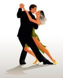 Tango del baile de los pares - ilustración del vector Foto de archivo libre de regalías