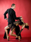 Tango di Dancing Immagini Stock