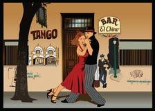 tango för 2 argentinean royaltyfri illustrationer