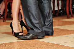 Tango feet in the dance Royalty Free Stock Image