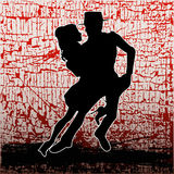 Tango Grunge. A background grunge illustration with a pair of dancers doing the Tango Royalty Free Stock Image