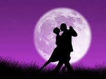 Tango im Mond Stockbild