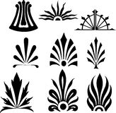 Tango inspirations. Several ornaments from the Tango Argentino scene. Good for Posters and illustrations. Isolated on a white backdrop and also as vector illu Stock Image
