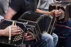 Tango/músico Imagen de archivo libre de regalías