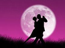 Tango na lua Imagens de Stock Royalty Free
