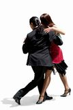 Tango/S T_5986. Young couple dancing Tango in the street stock photo