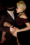 Tango sexy. Couple tango dancers in a sexy possition Royalty Free Stock Image