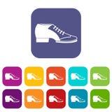 Tango shoe icons set flat Stock Photo