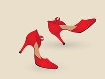 Tango shoes. A pair of tango shoes dancing Stock Photo