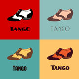 Tango shoes poster Royalty Free Stock Photos