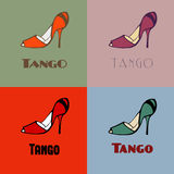 Tango shoes poster Royalty Free Stock Image