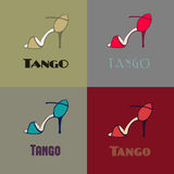 Tango shoes poster Royalty Free Stock Photo