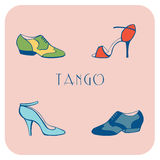 Tango shoes poster Stock Images