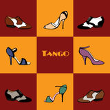 Tango shoes poster Stock Photography