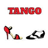 Tango shoes poster Royalty Free Stock Images