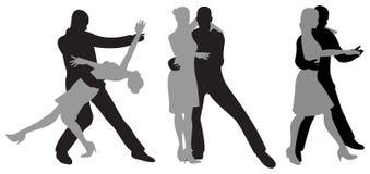 Tango silhouette Stock Image