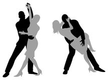 Tango silhouette Stock Images