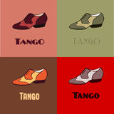 Tango skor affischen stock illustrationer