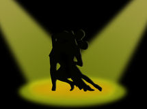 Tango in the spotlights Royalty Free Stock Photos