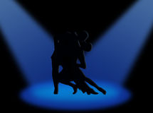 Tango in the spotlights Stock Images
