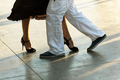 Tango on the street Stock Photos