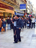 Tango street dancers Stock Photography