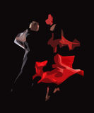 Tango. The stylized image of dancers who perform tango Royalty Free Stock Photography