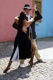Tango-Tänzer im La Boca Stockfotos