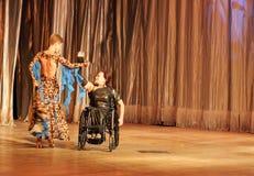 Tango in una sedia a rotelle Fotografia Stock Libera da Diritti