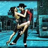Tango urbano ilustração stock
