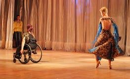 Tango in a wheelchair Royalty Free Stock Photos
