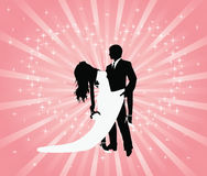 tangobröllop Arkivfoton