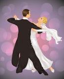tangobröllop royaltyfri illustrationer