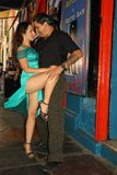 Tangodansare i Buenos Aires Arkivbilder