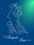 Tangodansen royaltyfri illustrationer