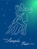 Tangodansen stock illustrationer