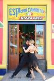 Tangodansers in Buenos aires royalty-vrije stock afbeeldingen