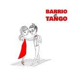 Tangoparaffisch royaltyfri illustrationer