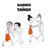 Tangoparaffisch vektor illustrationer