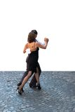 TangoSan Telmo_0502. Young couple dancing Tango in the street royalty free stock photography