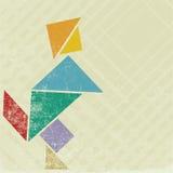 tangram людей Стоковые Изображения