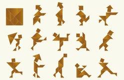 Tangram, люди Стоковая Фотография