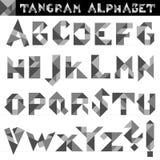 Tangram Alfabetvector Royalty-vrije Stock Afbeeldingen
