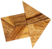 Tangram arrow Royalty Free Stock Photo