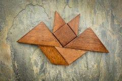 Tangram bat abstract Stock Photos