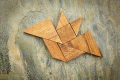 Tangram bat abstract Stock Photo